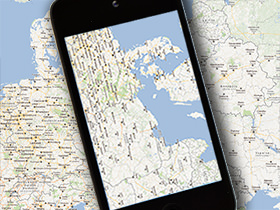 Mobile applications using GPS, cameras and telephones