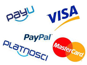 Payment methods such as PayPal, or Przelewy24